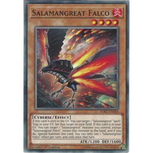 Soul Fusion Yu-Gi-Oh Salamangreat Falco 1st Edition SOFU-EN004 Common Card