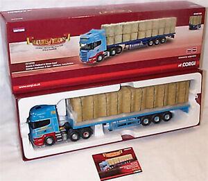 Scania R à plat et charge de paille George Anderson Cc13735 1-50 Neuf dans Box Ltd Ed 5055286607943