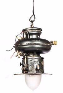 Vintage Antique Petromax Lightning Sweet Donut Shaped Built In Pump Lamp HB 099
