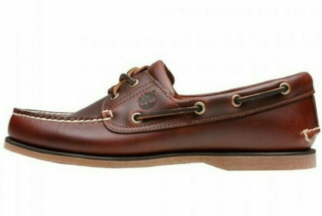 guardiano conchiglia indigeno  Timberland Mens Boat Shoes Classic 2-eye Rootbeer Brown Leather 25077 12  for sale online | eBay