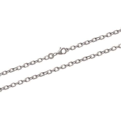 Chaîne De Cou Forçat Épaisse 60 cm x 2,50mm Argent Massif 925//1000 RHODIÉ Bijoux