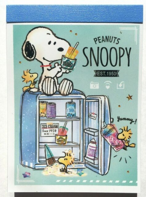 Cute Peanuts Snoopy and his Friends Mini Memo Pad 80 Stationery Kamio MADE JAPAN