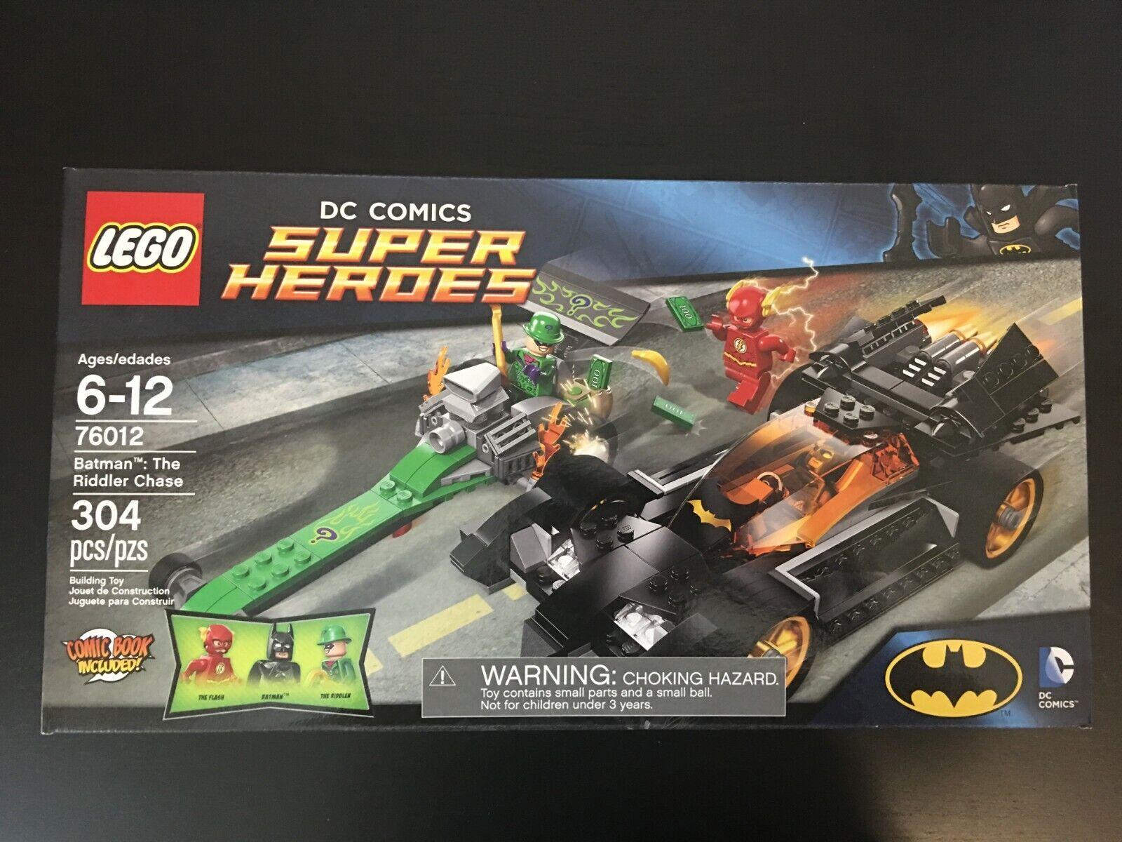 nuovo Lego  76012 DC Comics Super Heroes Batuomo The Riddler Chase Batmobile Flash  wholesape economico