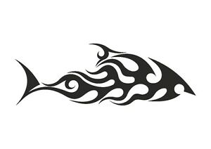 Tribal-Swimming-Shark-stencil-350-micron-Mylar-not-thin-stuff-TaT0053
