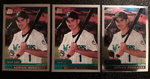 2000 Topps Traded & Chrome Adrian Gonzalez Lot #T81 Rookie RC Florida Marlins