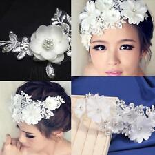 Handmade Vintage Wedding Bridal Lace Floral Pearl Headpiece Hairpin Accessory