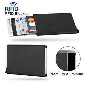 Aluminum Slim ID Credit Card Holder IMS RFID Blocking Thin Protector Wallet Case