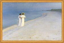 Summer evening on Skagens Beach. Kroyer Anna Ancher Marie Strand Frau B A2 03057