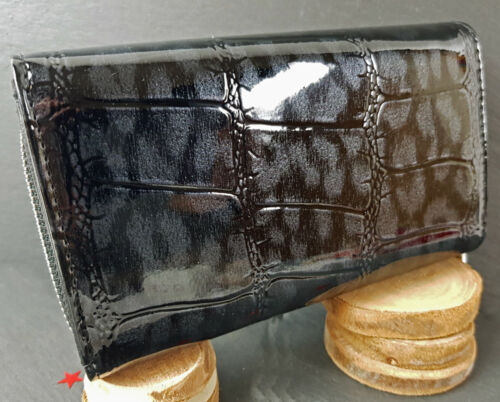 Nouveau Chaussures Femmes Bourse Portefeuille Porte-monnaie vernis-cuir bicolores-aspect Noble 9 Couleurs