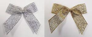 Self-Adhesive-5cm-Pre-Tied-Metallic-Lurex-Bows-16mm-Ribbon-1-Sample-6-12-Pack