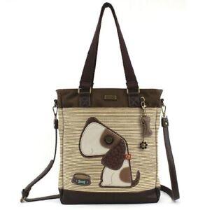 Chala Purse Handbag Leather /& Canvas Work Tote Bag Golden Retriever Puppy Dog