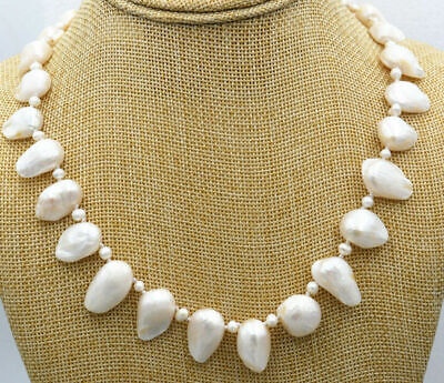 7x8-10 mm Or 7x10-12 mm Natural White Baroque Freshwater Pearl Cultured Baroque Pearl Natural White Edison Baroque Freshwater Pearls   #1444