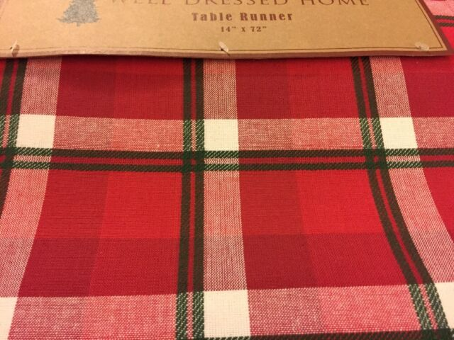 Well Dressed Home Christmas Red Off White Green Plaid