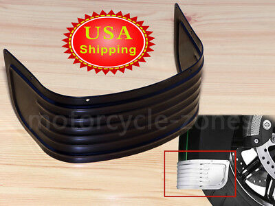 Ribbed Fenders Front Mudguard Fender Skirt For Harley 14-Up Touring /& Tri Glide