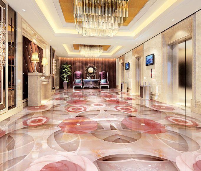 3D Flowers, pattern 7212  Floor WallPaper Murals Wall Print Decal 5DAJ WALLPAPER