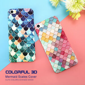 Fish-Scale-Mermaid-Tail-Shockproof-360-Hard-Back-Case-Cover-iPhone-6-6s-7-Plus