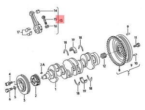 image is loading genuine-connecting-rods-set-audi-vw-audi-100-