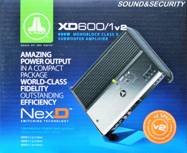 Jl Audio Xd6001v2 Monoblock Class D Subwoofer Lifier 600 W Rhebay: Jl Audio Monoblock At Gmaili.net
