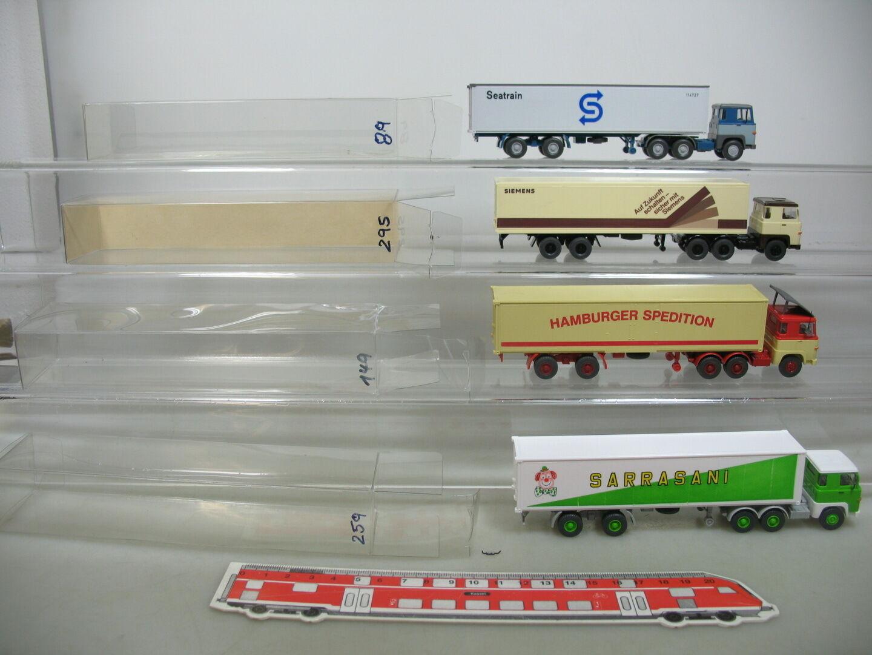 Ai723-1  4x wiking h0 Container-semi-remorque scania  siemens + seatrain + sarrasani....