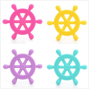 Nauticle Ship Helm Silicone- Baby Teether Gum Massager/Senso<wbr/>ry Processing Autism