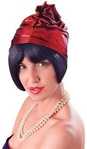 Cloche En Verre Années 1920 Chapeau. Rouge, Robe Fantaisie Chapeau-afficher Le Titre D'origine