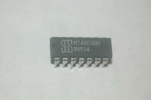 SGS M74HC10B1 Triple 3-input AND Gate 14-Pin Dip New Lot Quantity-10