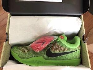 huge selection of 5c398 28252 Image is loading Nike-Mamba-Rage-Grinch-Kobe-Basketball-Shoes-908972-