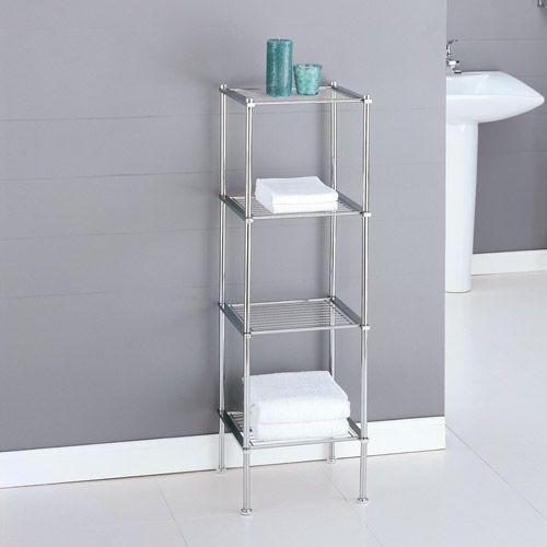 Organize It All 16984w 4 Tier Chrome Finish Metro Bath Shelf   eBay