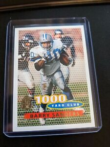 1996 Topps 1000 Yard Club Barry Sanders Detroit Lions Insert Rare
