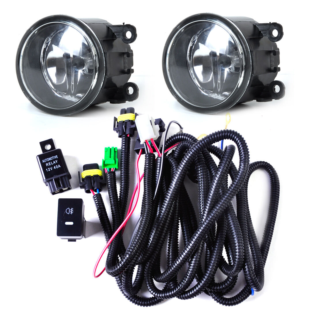 Wiring Harness Sockets Switch 2 H11 Fog Lights for Ford Focus Acura