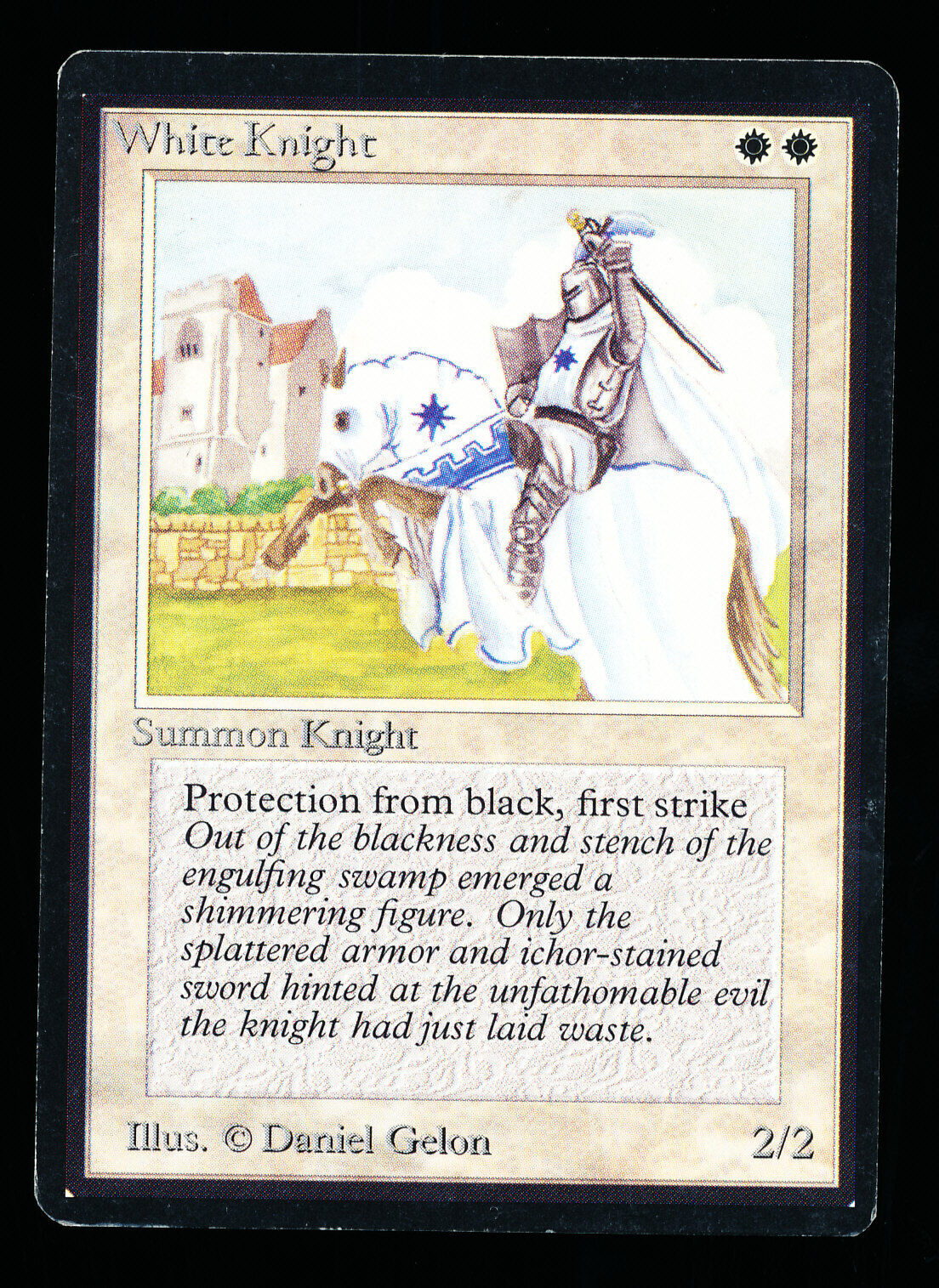 1x White Knight Knight Knight x1   Beta MTG VLP Very Lightly Played, Great Condition 4b0d9e