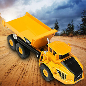 1-87-Scale-Alloy-Dump-Truck-Diecast-Construction-Vehicle-Cars-Lorry-Toys-Model