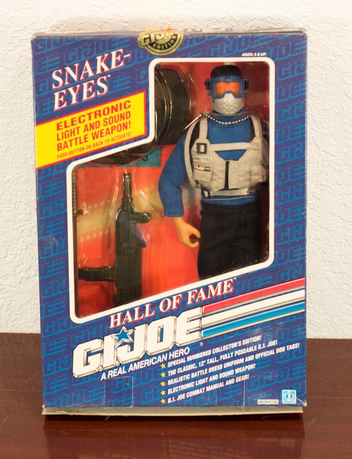 1991 - gi joe hall of fame snake-eyes actionfigur mib