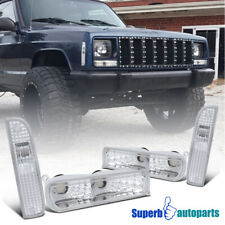 97-01 Jeep Cherokee Front Signal Bumper Lights Clear