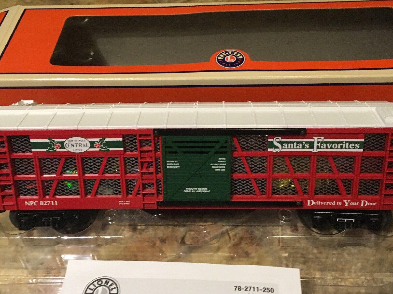 Lionel 6-82711 Santa's Favorites Transparent Gift Stock Car LIGHTED O27