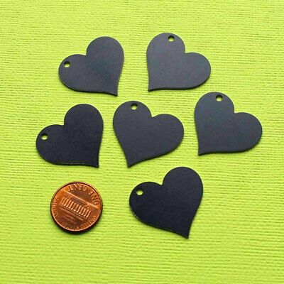 MT385 10 Aluminum Stamping Tags Anodized Aluminum Red Hearts