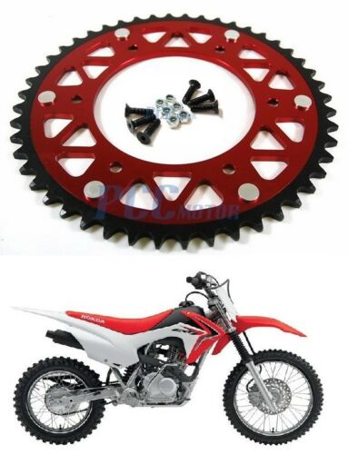 49 TOOTH CNC Aluminum Rear Sprocket Honda CR CRF 125 250 450 RED 49T M RS22