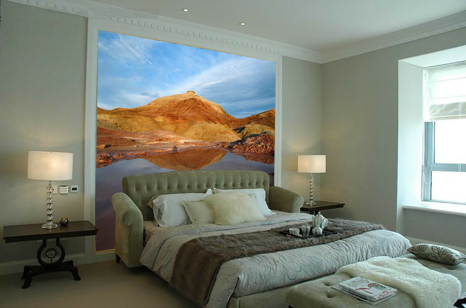 3D Hill Pool 4154 WandPapier Murals Wand Drucken WandPapier Mural AJ Wand UK Lemon