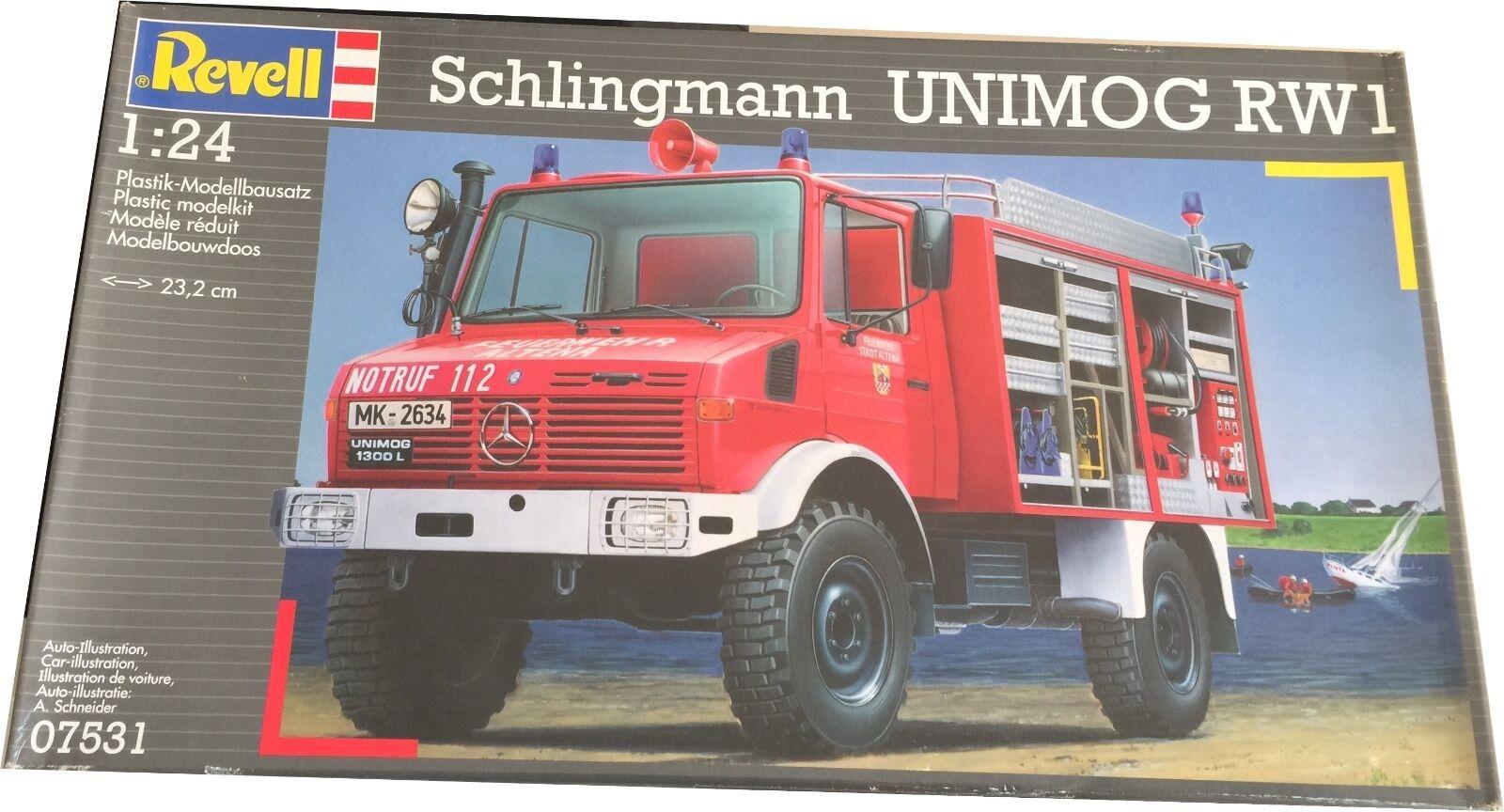 Revell Schlingmann Unimog RW1 Model Kit Ref 07531 Escala 1 24, Nuevo (Leer Desc)