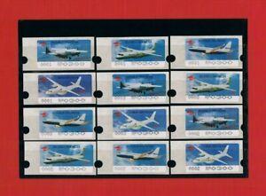 """Geschickt Indonesien """"air Show 1996"""" Alle 12 Flugzeug-ausgaben 0001+0002+0003 ** Mi 240.-€ Einfach Zu Reparieren Briefmarken"""
