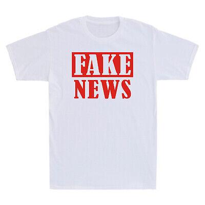 Defund The Media Fake News Funny Sarcasm Saying Retro Vintage Men/'s T-Shirt Tee