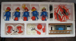 Original-1970-039-s-Playpeople-Firemens-Super-Set-Marx-Toys-Boxed-T