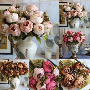 Artificial-Fake-Peony-Silk-Flowers-Bridal-Hydrangea-Home-Wedding-Garden-Decor