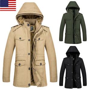 8a5fa90c1 Winter Men s Down Jacket Warm Thick Fur Lining Fleece Outerwear ...
