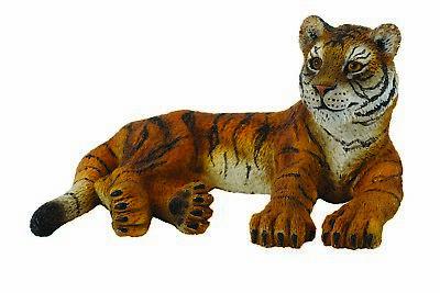 CollectA 88412 TIGER CUB LYING 5.5cm Long 3cm Tall Miniature Figure