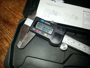 """6"""" 150mm Digital LCD Vernier Calipers Quality Stainless Steel metric/inch, Cased"""