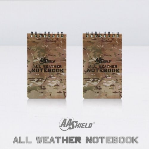 """AA Shield All Weather 3/""""X5/"""" Note Book Camo Color Waterproof Outdoor Map 2 pcs"""
