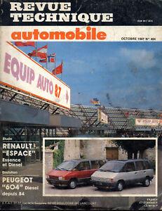 Rta Revue Technique Automobiles N° 484 Renault Espace 1 Essence Diesel Pure Blancheur