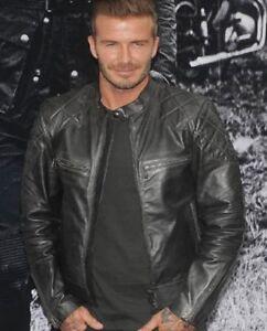 Mens Genuine Leather Jacket Mens Black Stylish Real Leather Jacket