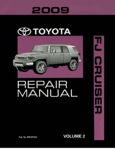 OEM Repair Maintenance Shop Manual Bound Toyota Fj Cruiser Volume 2 Of 3 2009